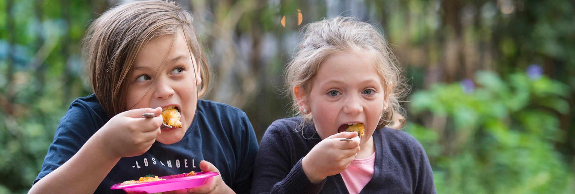 Children eating