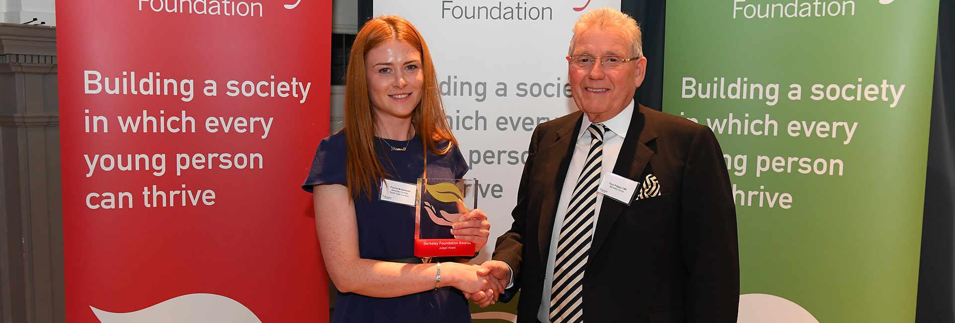Fionna McDermott receive her award